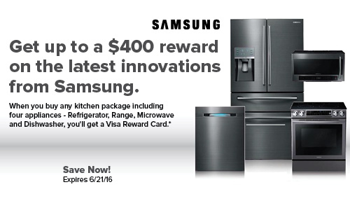 Samsung $400 Cash Back - Plessers Appliances & Electronics