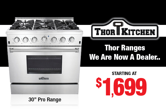 Thor Ranges Now in stock! - Plessers Appliances & Electronics