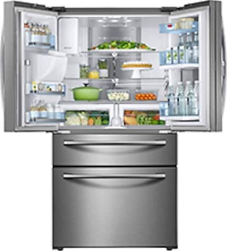 Samsung Rf28jbedbsg 28 Cu Ft Freestanding French Door Refrigerator Black Stainless Steel