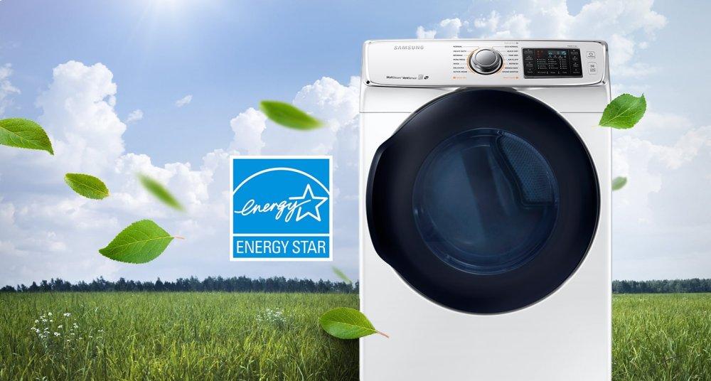Samsung Dv45k6500gw Dv6500 7 5 Cu Ft Gas Dryer White