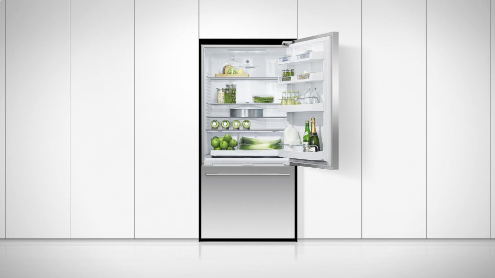 Fisher Paykel Rf170wdrjx5 17 1 Cu Ft Freestanding Counter Depth Bottom Mount Refrigerator Stainless Steel Right Hinge