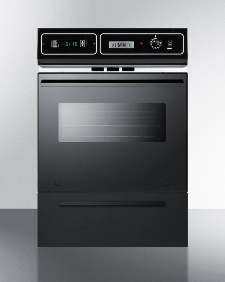 Summit TEM721DK 24 Inch Single Electric Wall Oven With 2