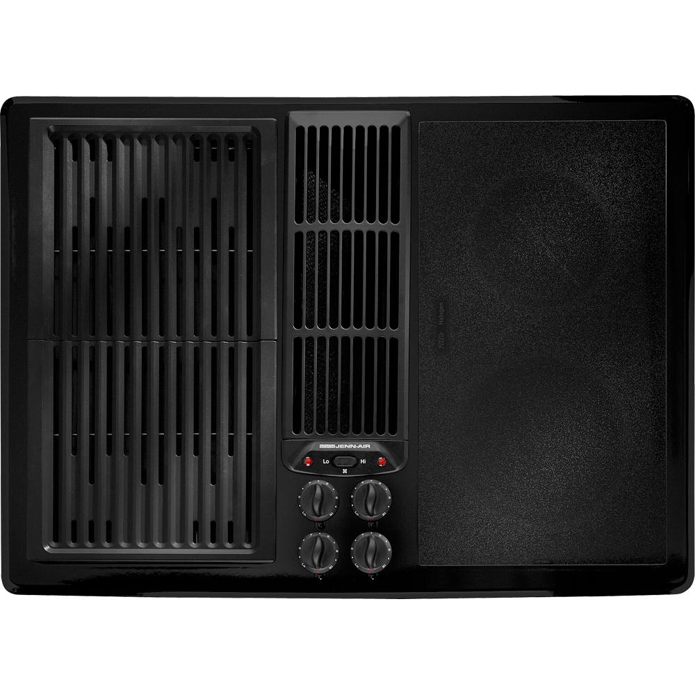 Jenn Air Jed8230adb 30 Modular Electric Downdraft Cooktop With Grill Assembly And Accepts Optional Accessories Modules Sold Separately Black