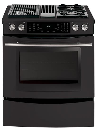 Jenn Air Jds9860bdb 30 Modular Dual Fuel Slide In Range With 2 Fixed Sealed Gas Burners Multimode Convection Two Speed Downdraft Ventilation Fan And Grill Assembly Included Floating Black Glass