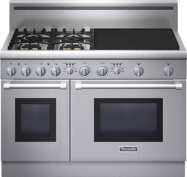 """Thermador PRD484EEHU 48"""" Pro-Style Dual-Fuel Range With 4"""