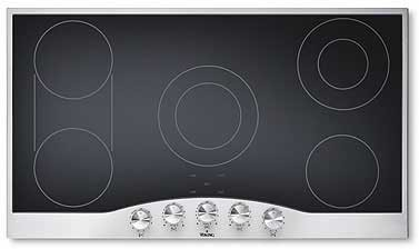 Viking designer series decu1655bsb 36 smoothtop electric for Viking 36 electric cooktop