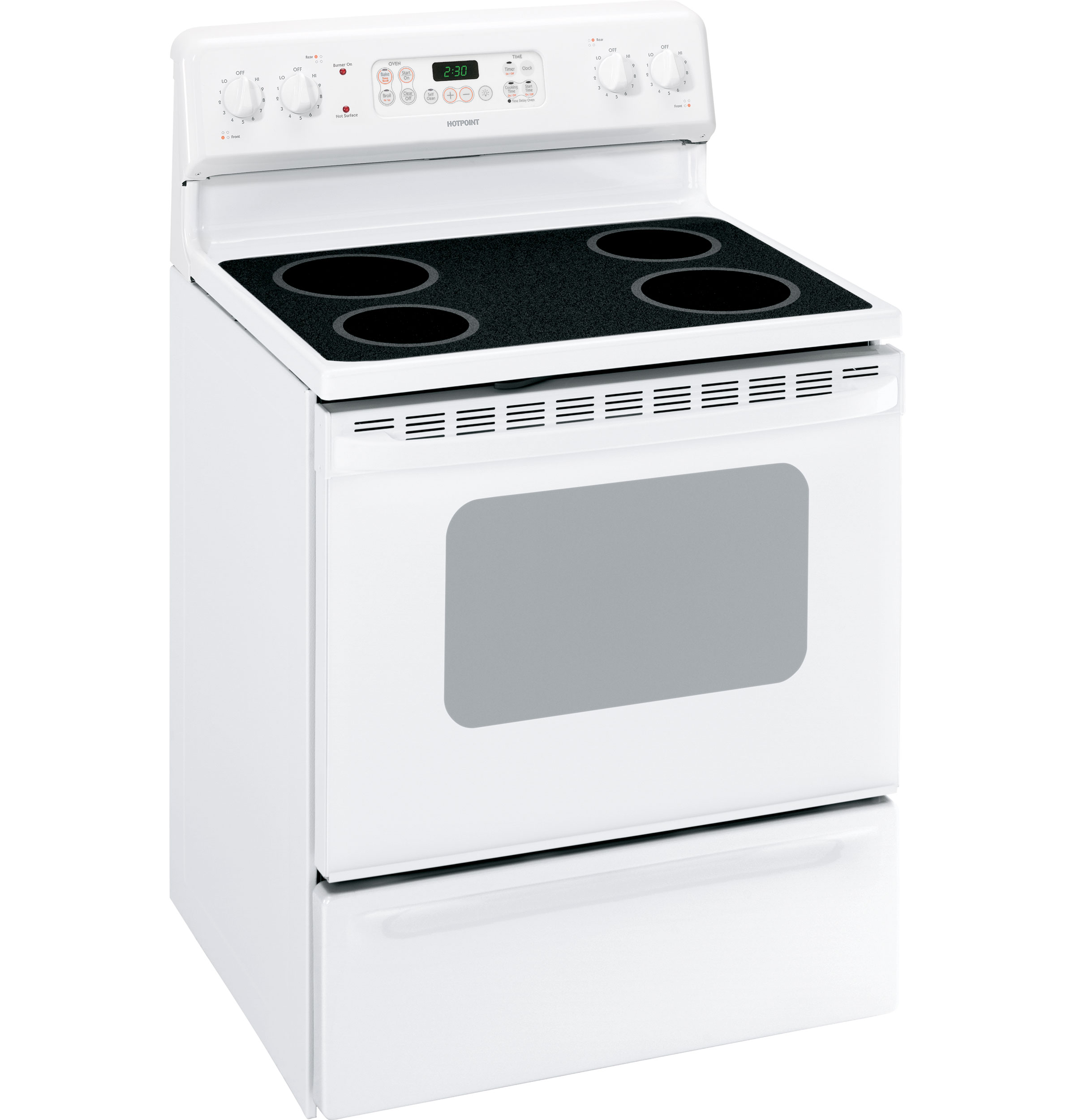 "Hotpoint RB790DPWW 30"" Freestanding Electric Range With 4"