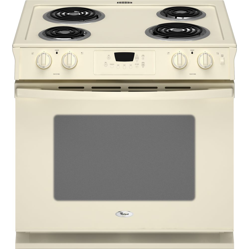 "Whirlpool WDE150LVT 30"" Drop-in Electric Range With 4 Coil"