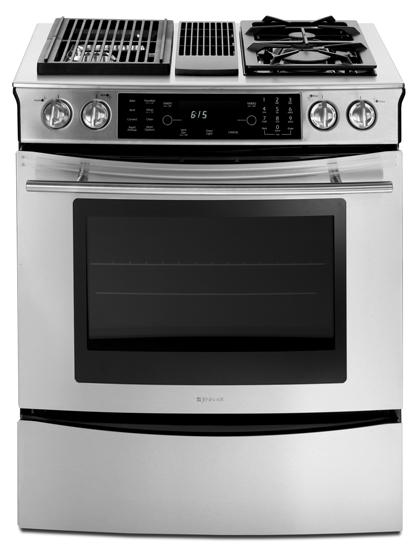 Jenn Air Jds9860bds 30 Modular Dual Fuel Slide In Range With 2 Fixed Sealed Gas Burners Multimode Convection Two Speed Downdraft Ventilation Fan And Grill Assembly Included Stainless Steel