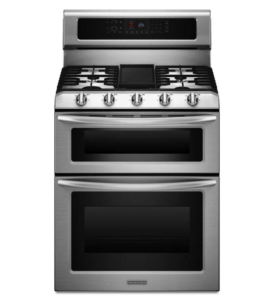 "Kitchenaid KGRS505XSS 30"" Freestanding Gas Range With 5"