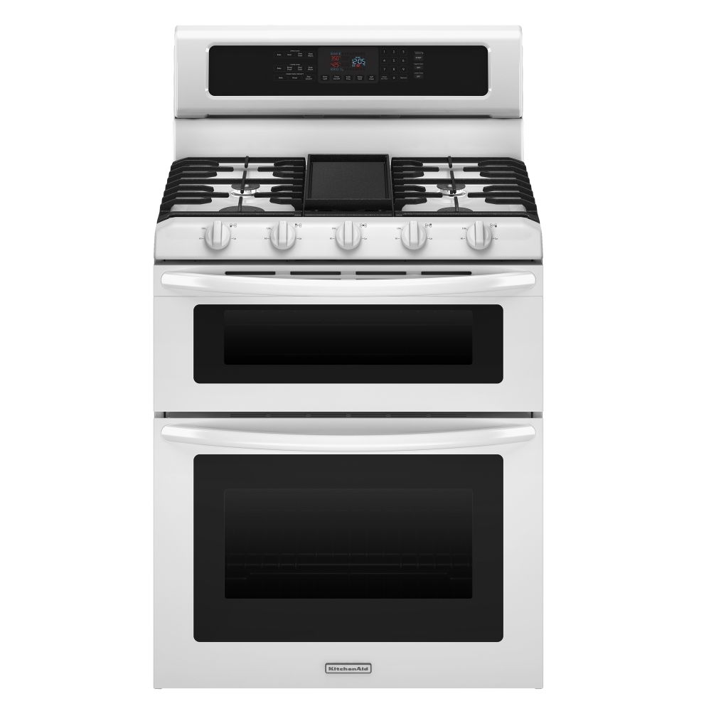 "Kitchenaid KGRS505XWH 30"" Freestanding Gas Range With 5"
