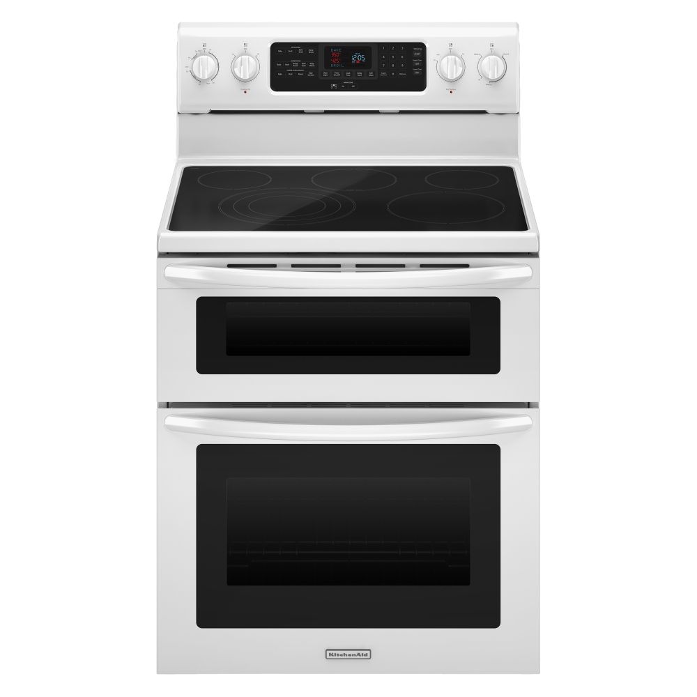 "Kitchenaid KERS505XWH 30"" Freestanding Electric Range With"
