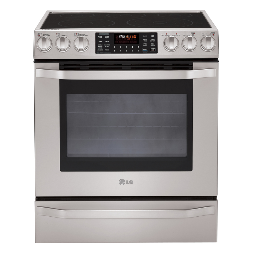 "Lg Studio LSES302ST 30"" Slide-in Electric Range With 5"