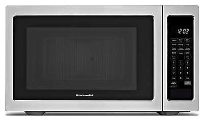 Kcms1655bss kitchenaid kcms1655bss countertop microwaves - Kitchenaid microwave with trim kit ...