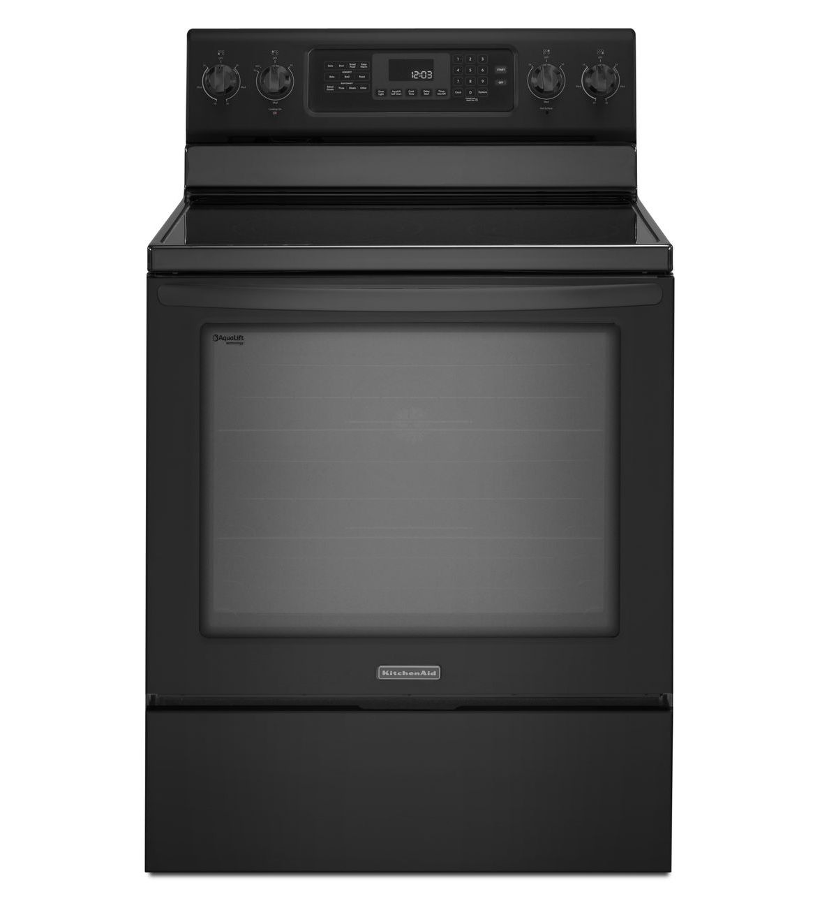 "Kitchenaid KERS202BBL 30"" Freestanding Electric Range With"