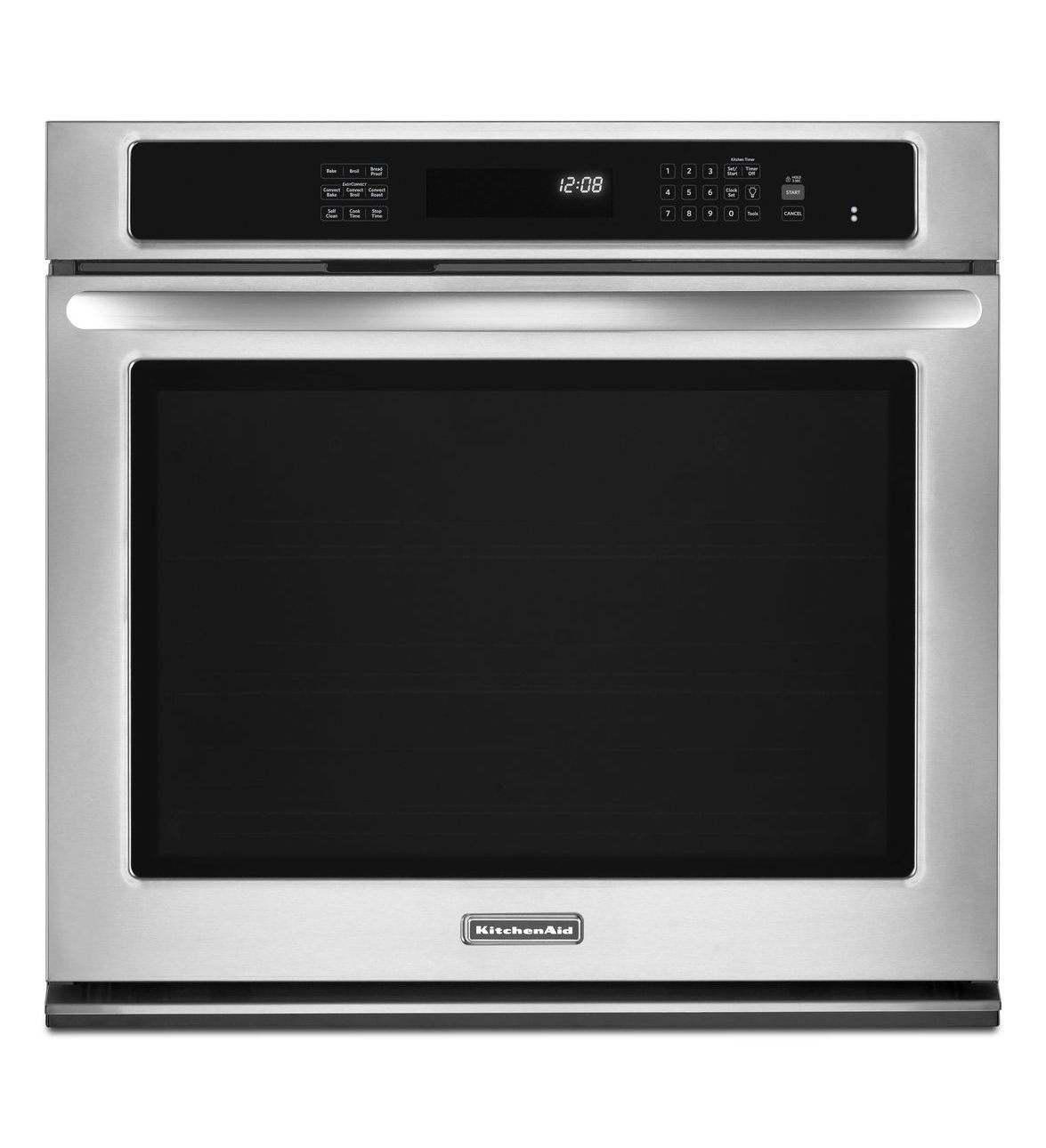 "Kitchenaid KEBS109BSS 30"" Single Wall Oven With 5.0 Cu. Ft"