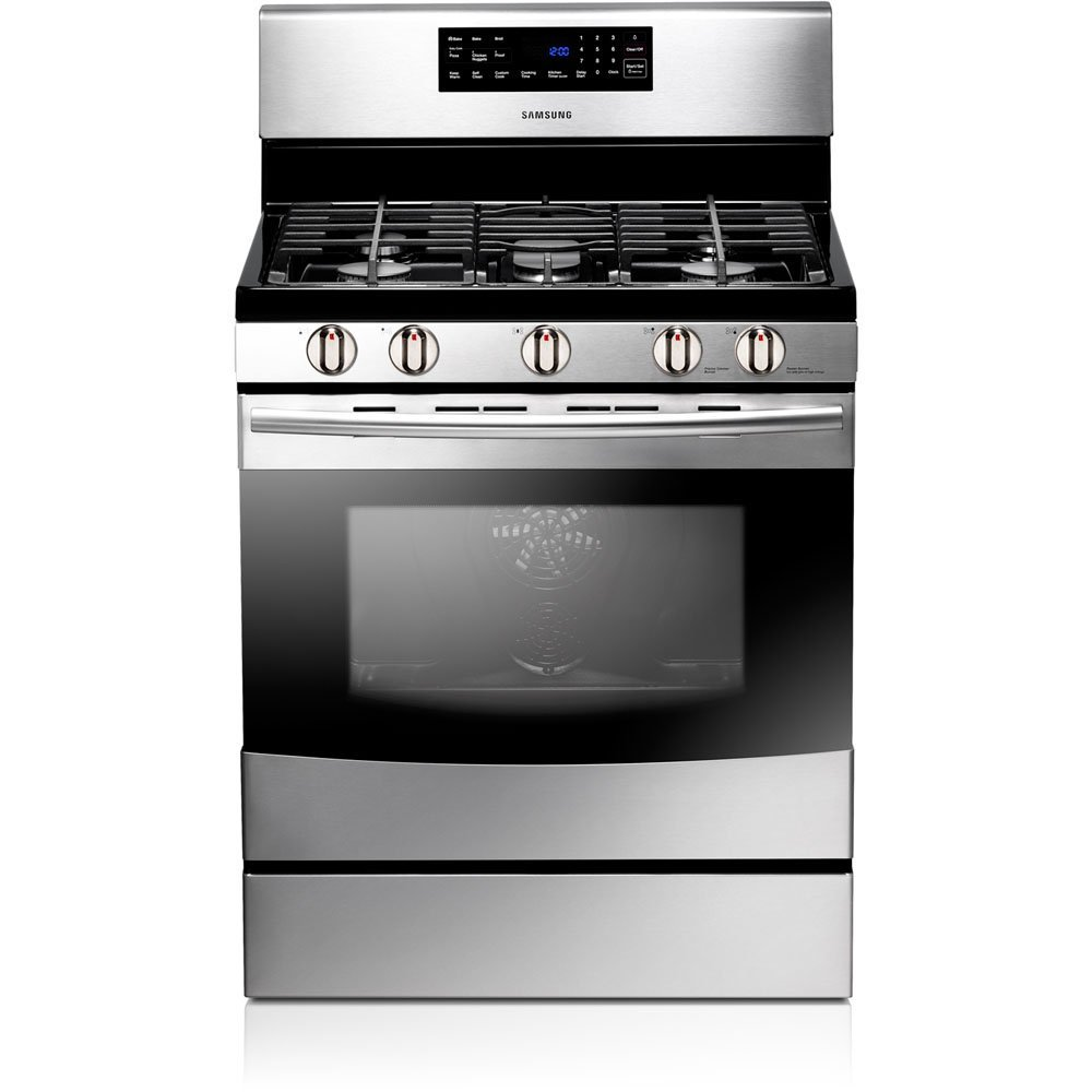 "Samsung NX583GOVBSR 30"" Freestanding Gas Range With 5"
