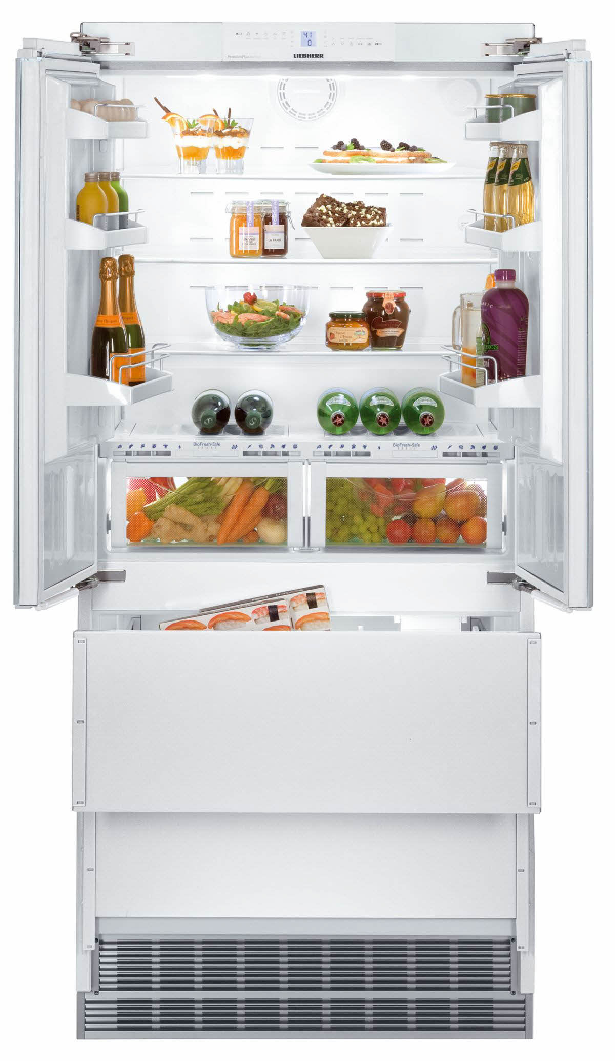 liebherr hcb2062 36 fully integrated french door refrigerator ebay. Black Bedroom Furniture Sets. Home Design Ideas