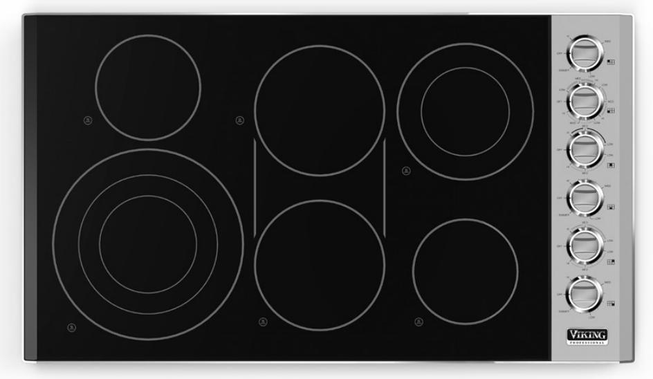 Viking vec5366bsb 36 smoothtop electric cooktop stainless for Viking 36 electric cooktop