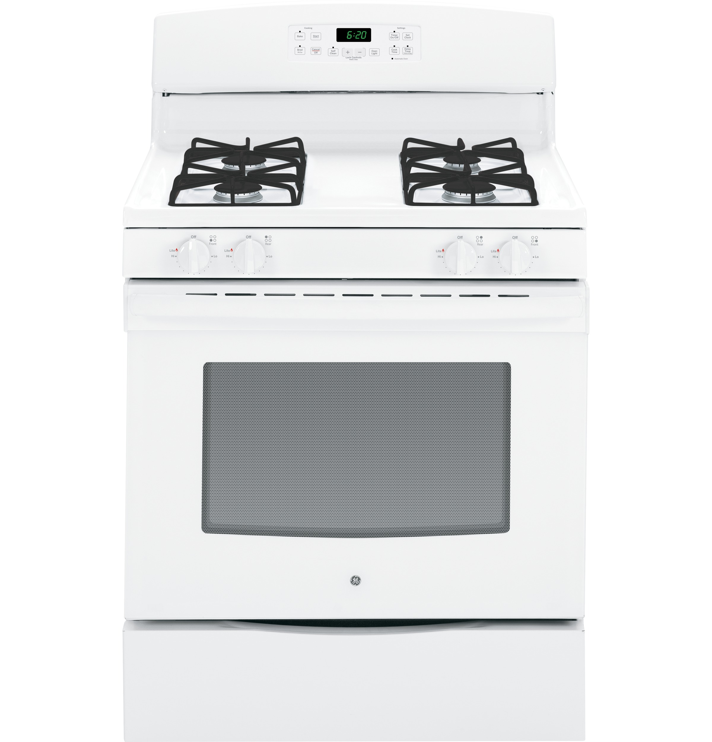 "General Electric JGB620DEFWW 30"" Freestanding Gas Range"