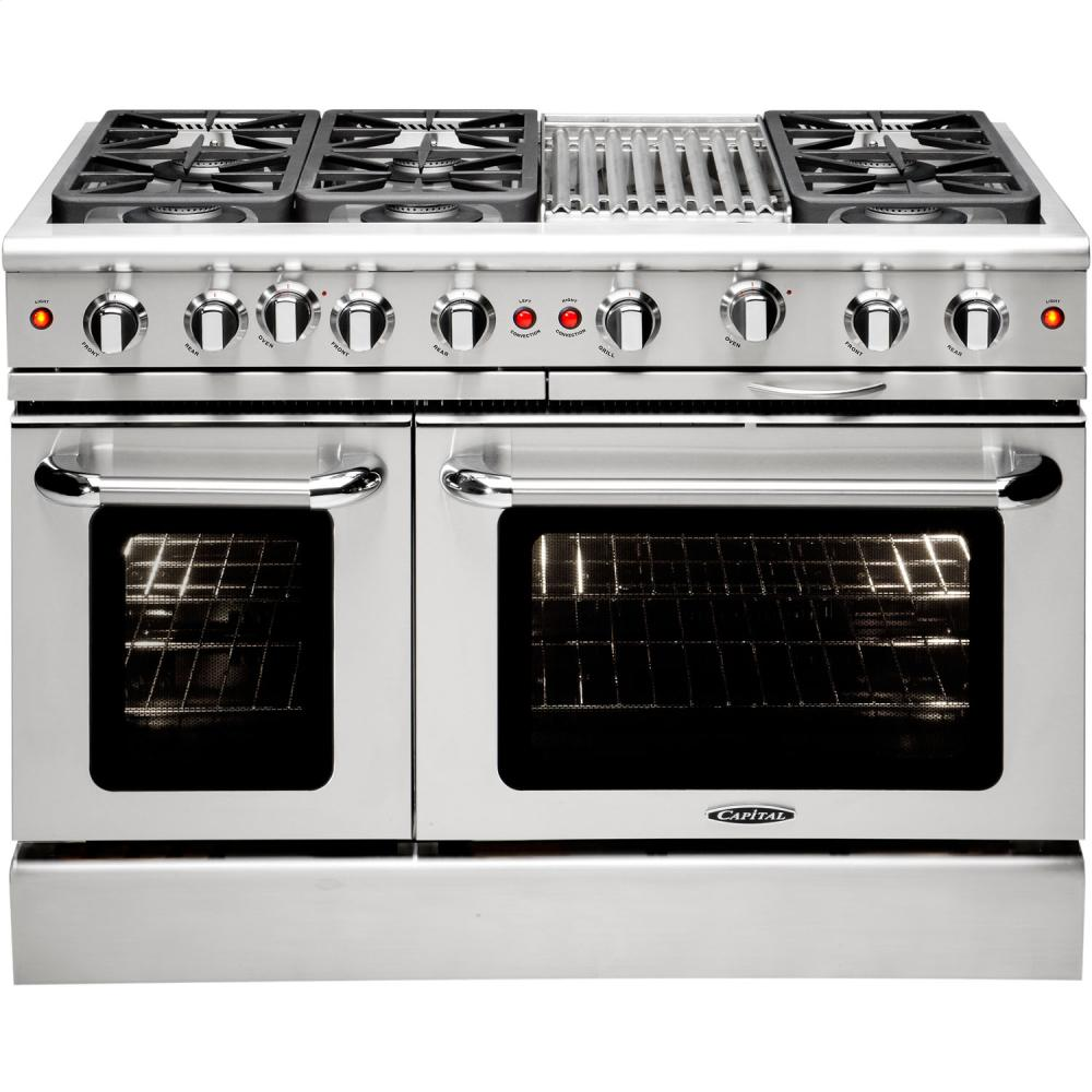 """Capital MCR486BN 48"""" Freestanding Gas Range With 6 Sealed"""