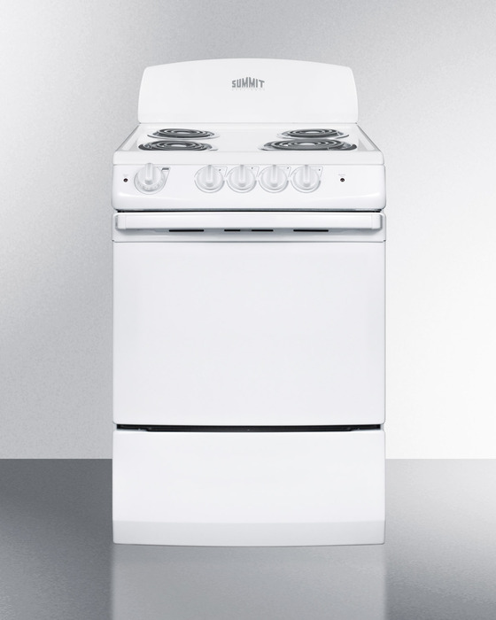 Summit RE241W 24 Inch Freestanding Electric Range With 4