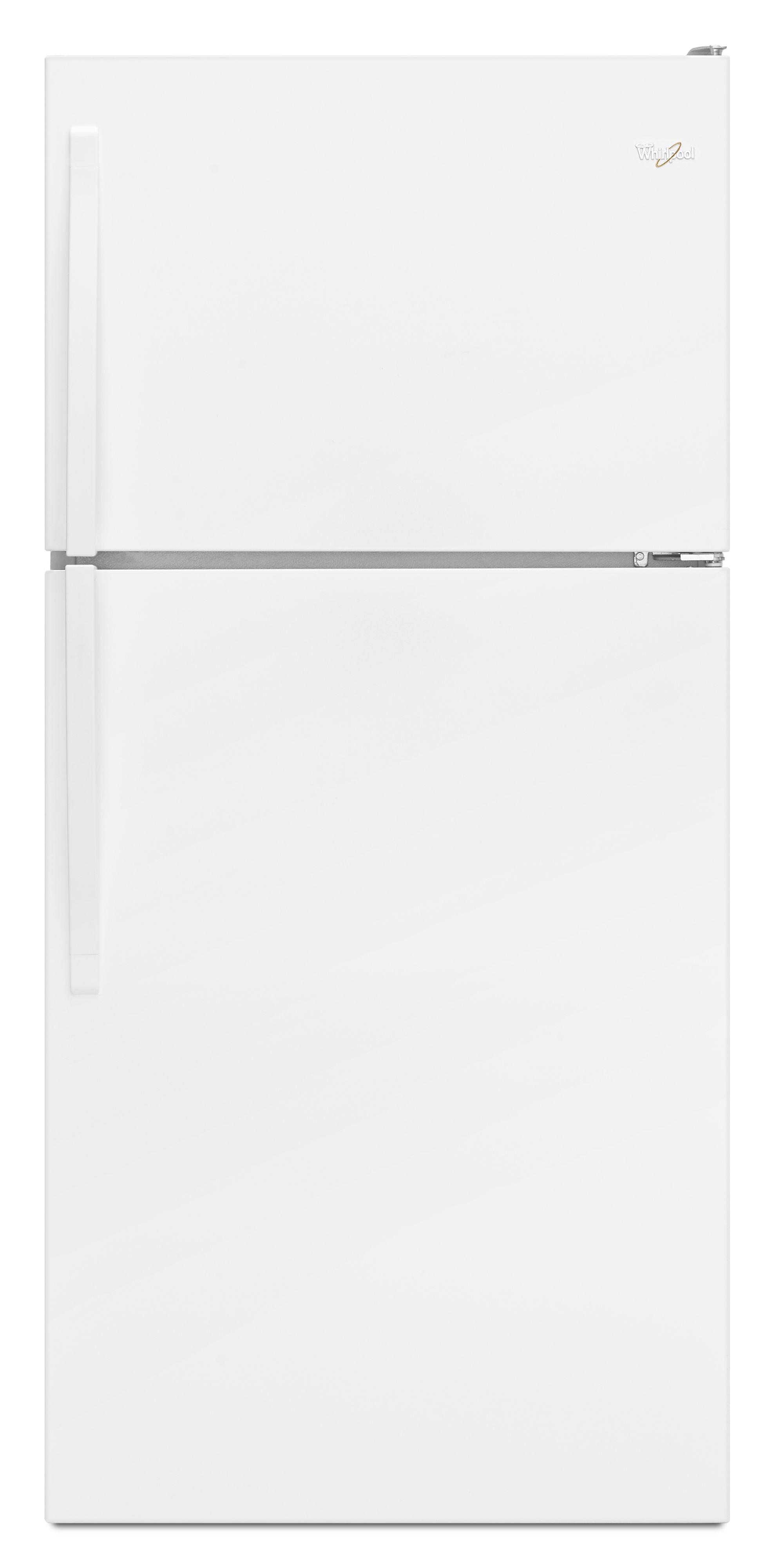 whirlpool wrt318fmdw 18 cu  ft  top freezer refrigerator with 3 glass shelves  6 door bins  deli