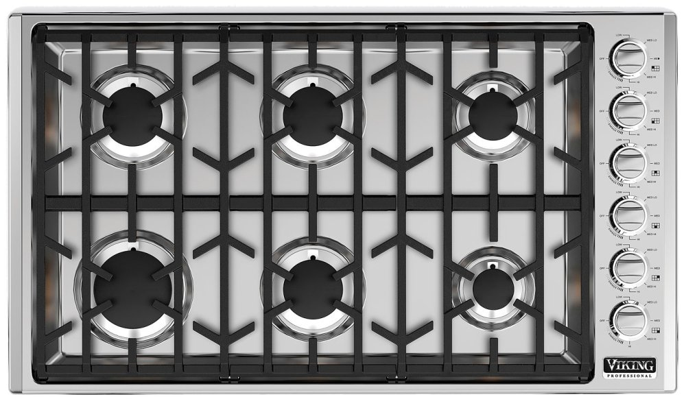 Viking vgsu5366bss 36 gas cooktop ebay for Viking 36 electric cooktop