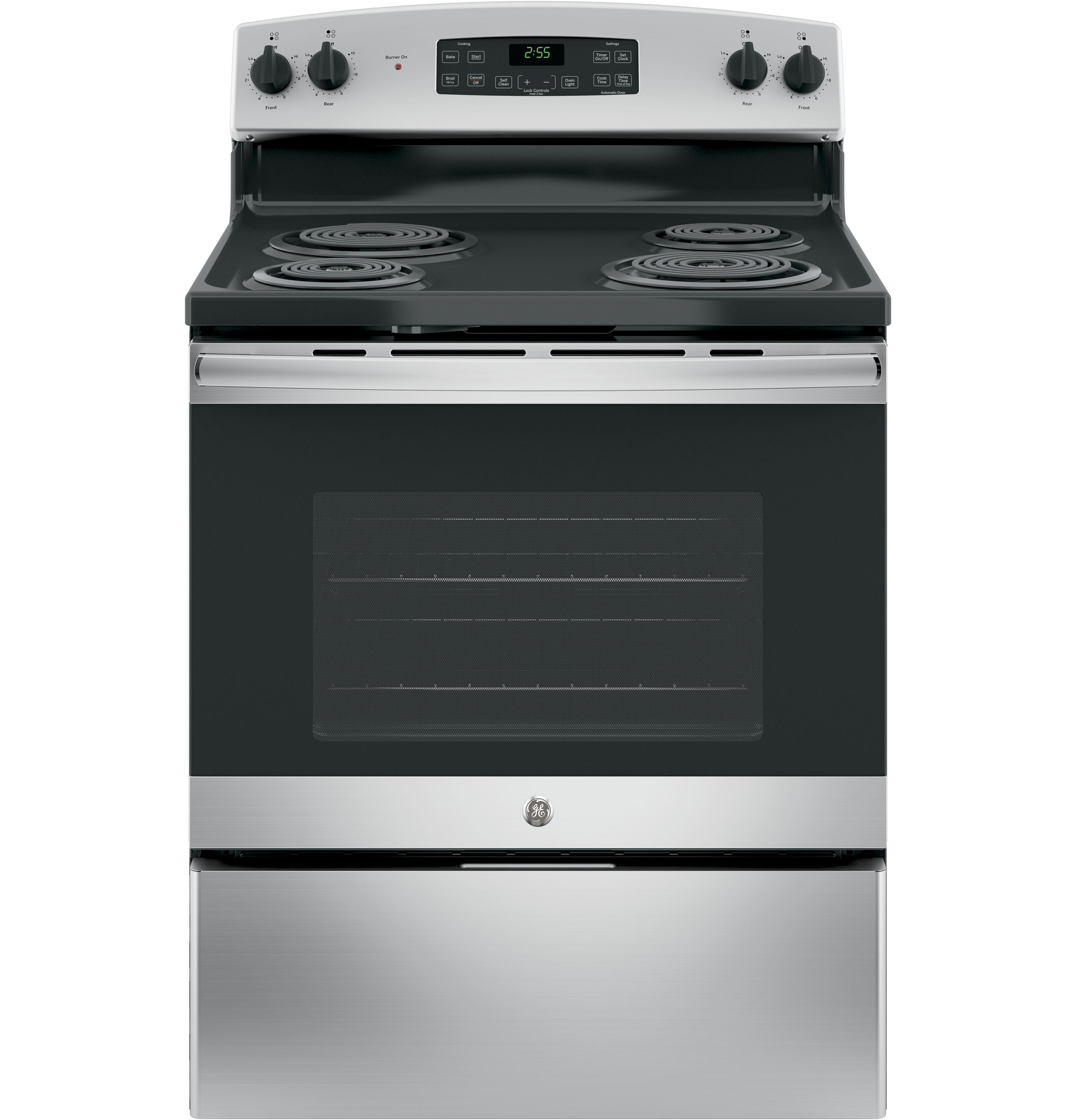 General Electric JB255RKSS 30 Inch Electric Range With 4