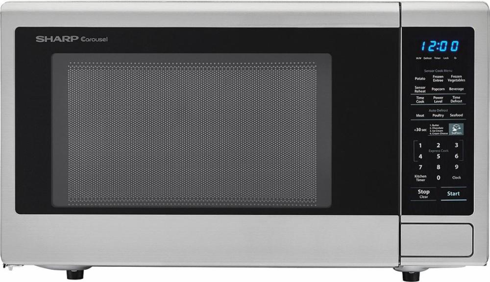 Sharp Smc1442cs 1 4 Cu Ft Countertop Microwave Oven 1 4