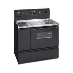Brand: Frigidaire, Model: FEF450BW, Color: Black With Chrome Cooktop