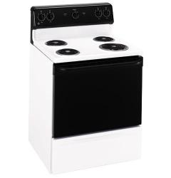 Brand: GE, Model: JBS03BH, Color: White with Black Control Panel & Door