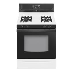 Brand: Whirlpool, Model: SF262LXST, Color: White with Black Console & Black Door