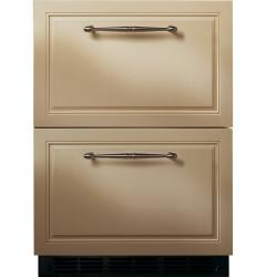 Brand: GE, Model: ZIDI240WII, Style: Double-Drawer Refrigerator