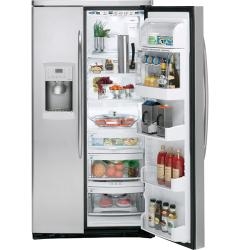 Brand: GE, Model: PSW26PSTSS, Style: 25.5 Cu. Ft. Side by Side Refrigerator
