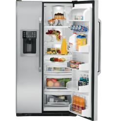 Brand: GE, Model: CSS25USWSS, Style: 25.4 cu ft. Side by Side Refrigerator