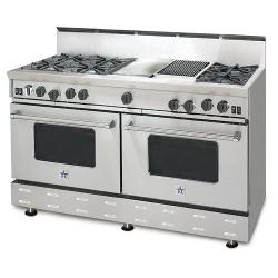 Brand: Bluestar, Model: RNB606GCBSS, Style: 6 Burners/ 12 Inch Griddle/ 12 Inch Charbroiler