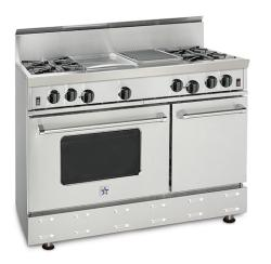 Brand: Bluestar, Model: RNB486GSS, Style: 4 Burners/ 12 Inch Griddle/ 12 Inch Charbroiler