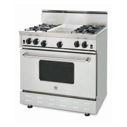 Brand: Bluestar, Model: RNB36, Style: 4 Burners/ 12 Inch Griddle