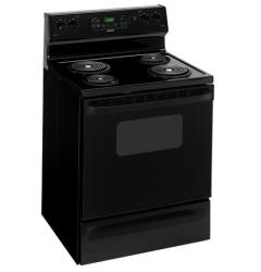 Brand: HOTPOINT, Model: RB757WHWW, Color: Black with Black Door