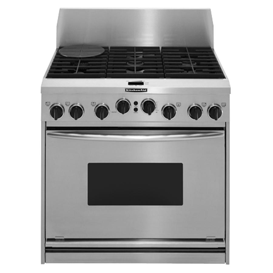 Kitchenaid Kdrp467kss 36 Quot Pro Style Dual Fuel Range With 4