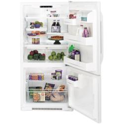 Brand: GE, Model: GBS22HBSWW, Style: 22.3 cu. ft. Bottom-Freezer Refrigerator