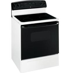 Brand: General Electric, Model: JBP62BMWH, Color: White with Black Glass Door
