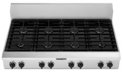 Brand: KITCHENAID, Model: KGCP483KSS, Style: 8 Burners