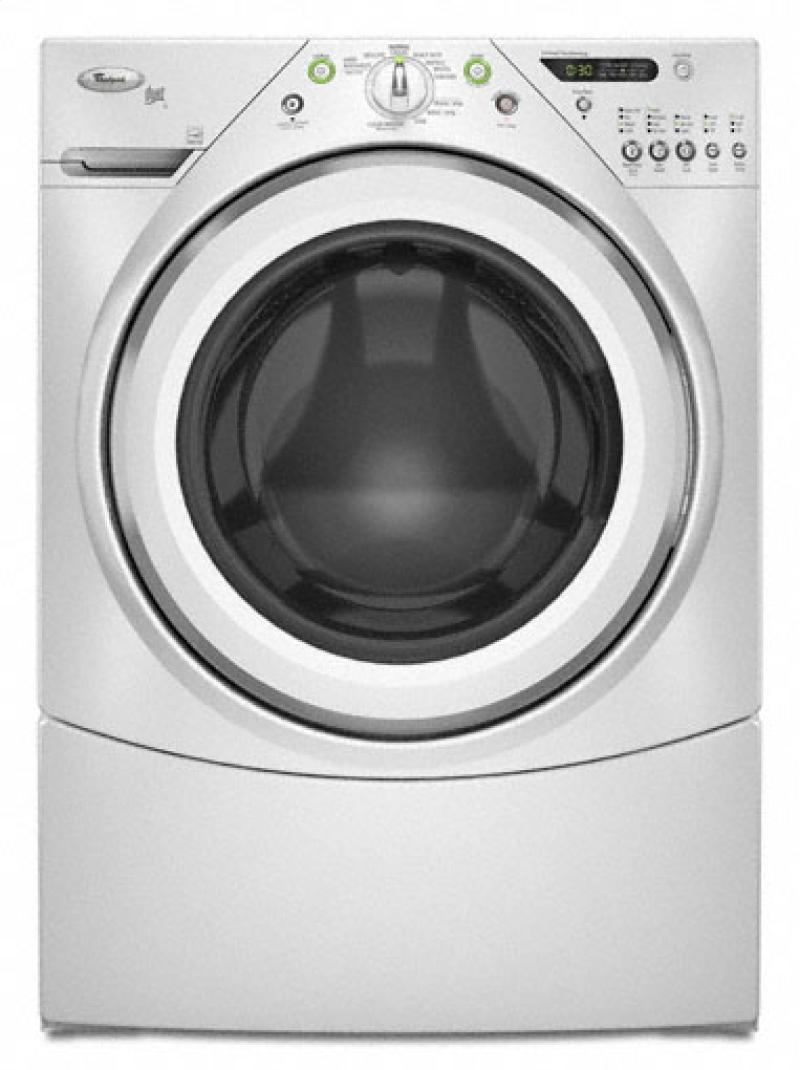 Whirlpool Wfw9200sq 27 U0026quot  Front Load Washer With 4 0 Cu  Ft  Capacity  10 Wash Cycles  4