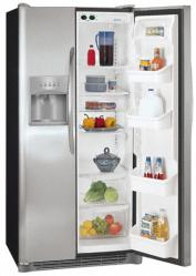Brand: FRIGIDAIRE, Model: PHS66EJSB, Style: 26.0 cu. ft. Side by Side Refrigerator