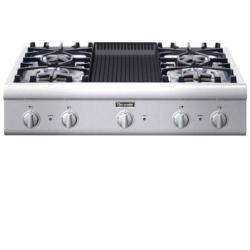 Brand: Thermador, Model: PCG364EL, Style: 4 Burners and Grill