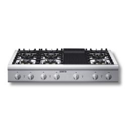 Brand: Thermador, Model: PCG486EL, Style: 6 Burners and Grill