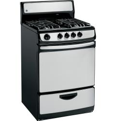 Brand: General Electric, Model: JGAS02SENSS, Style: 24 Inch Freestanding Gas Range