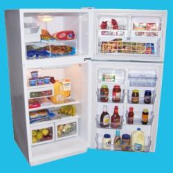 Brand: Haier, Model: PRTS18SAAW, Style: 18 cu. ft. Frost-free Top Mount Refrigerator